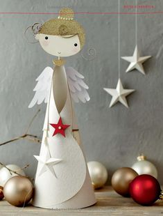 1 million+ Stunning Free Images to Use Anywhere Angel Crafts, Christmas Crafts, Christmas Ornaments, Christmas Makes, Christmas Art, Crafts For Kids To Make, Diy And Crafts, Paper Christmas Decorations, Childrens Christmas
