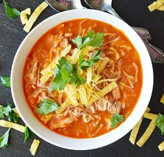You will love this colorful and flavorful Homemade Jackfruit Tortilla Soup! This recipe comes together really quickly so it's perfect for a weeknight meal.