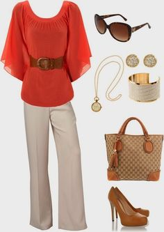 Casual Business belted top works on me..and oh the gucci bag is to die