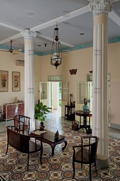 Bright and airy interior of an old colonial house, Ho Chi Minh City, Vietnam, Southeast Asia British Colonial Decor, Colonial Style Homes, French Colonial, Asian Interior, Home Interior Design, Interior Styling, Estilo Colonial, Colonial Furniture, Colonial Architecture