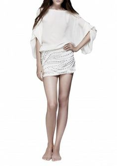 Embroidered sequin skirt 58€ | SAYAN