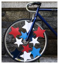 Fourth of July, I shall get drunk and ride my bike with stars in the wheels.
