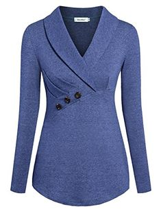 Looking for Sixother Women V Neck Formal Tops Long Sleeve Work Shirt Flowy Blouse Work ? Check out our picks for the Sixother Women V Neck Formal Tops Long Sleeve Work Shirt Flowy Blouse Work from the popular stores - all in one. Blouse Styles, Blouse Designs, Long Tops, Long Sleeve Tops, Formal Tops, Work Shirts, Blue Shirts, Work Blouse, Ladies Dress Design