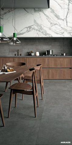 New Kitchen Marble Concrete Ideas Kitchen Room Design, Modern Kitchen Design, Home Decor Kitchen, Home Design, New Kitchen, Interior Design Living Room, Kitchen Wood, Kitchen Grey, Kitchen Ideas