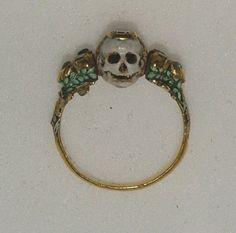 "centuriespast: "" Memento Mori ring Late 17th century Purchased in Paris The Ashmolean Museum """
