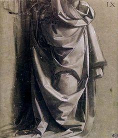 Leonardo da Vinci - Draperie pour une figure debout