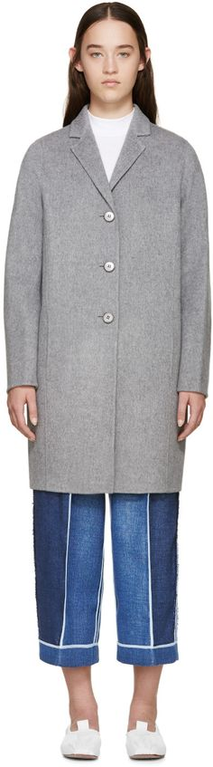 ACNE STUDIOS Grey Elsa Doublé Coat. #acnestudios #cloth #coat