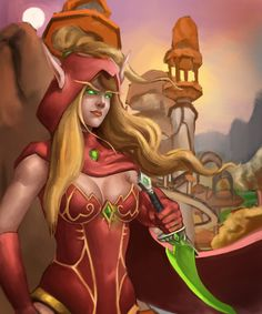 I drew a World Of Warcraft character named 'Valeera Sanguinar':)