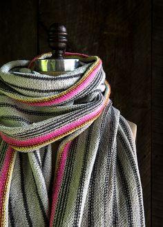 Ravelry: Ticking Stripe Wrap pattern by Purl Soho