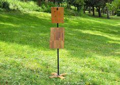 Everyday Rustic Freestanding Menu Holder Pedestal by PennRustics