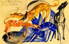 The Athenaeum - The Four Companion Dogs of Prince Jussuff (Franz Marc - )