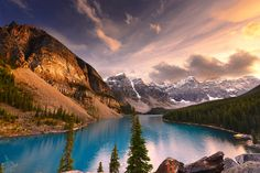moraine lake by Ibraheem Alnassar