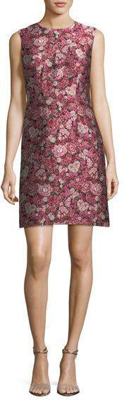 ADAM by Adam Lippes Sleeveless Floral Brocade Dress
