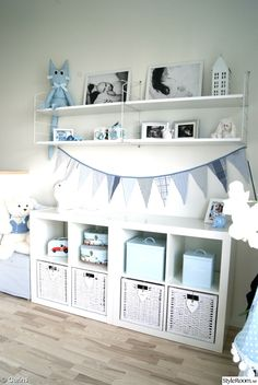 simpler, nyblom / Blue and white baby room. simpler, nyblom / Blue and white baby room. Baby Bedroom, Baby Boy Rooms, Baby Boy Nurseries, Kids Bedroom, Baby Boy Nursey, Ikea Baby Room, Ikea Baby Nursery, Room Baby, Room Kids