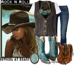 """Country Girl  """"100th Item Challenge"""" by stephiebees on Polyvore"""