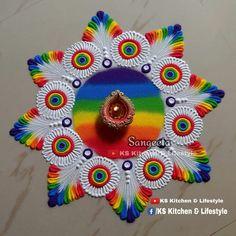 Easy Rangoli Designs Videos, Easy Rangoli Designs Diwali, Rangoli Designs Latest, Simple Rangoli Designs Images, Rangoli Designs Flower, Rangoli Border Designs, Rangoli Ideas, Colorful Rangoli Designs, Beautiful Rangoli Designs