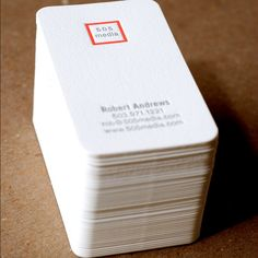 Letterpress Business Card Set : Modern Square by RubyPress on Etsy