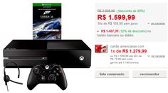 Console Xbox One 500GB  Jogo Forza 6 (Via Download)  Controle Wireless  Headset com Fio << R$ 127999 >>