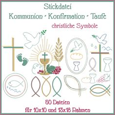 Christliche Symbole Stickdatei