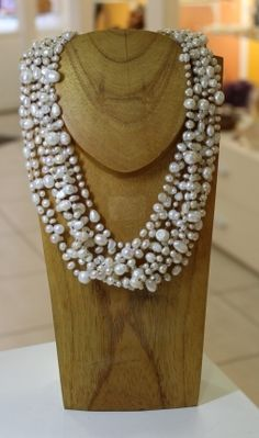 Collier en Perle Blanche