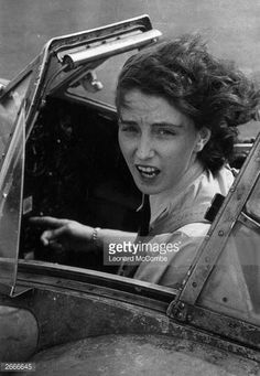 Women in WWII - First Officer Maureen Dunlop, one of the ferry pilots of the ATA (Air Transport Auxiliary) who transport newly manufactured aircraft from the factory to the aerodrome during World War II. She is sitting in the cockpit of a new Baracuda. Ww2 Aircraft, Military Aircraft, Fighter Aircraft, Photo Avion, Female Pilot, Brave Women, Fighter Pilot, Royal Air Force, World War Ii