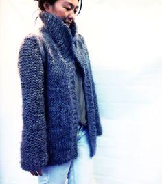 Big collar chunky loose knit