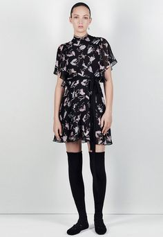 Shop the look: Zara Ballerina Print Dress ($149) and Sock-Style Lace-Up Ballerinas ($139).