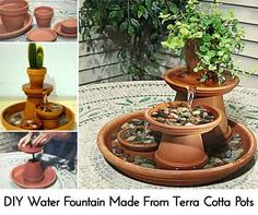 Diy Indoor Water Fountain Build an indoor water fountain indoor water fountains water diy water fountain made from terra cotta pots workwithnaturefo