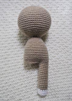 Lady cat amigurumi patroon - benen