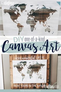 I am so excited to share how I took this store bought canvas from boring to brilliant! Are you ready? This step-by-step tutorial will inspire you to create one-of-a-kind decor pieces for your home! Handmade Home Decor, Diy Home Decor, Kids Clothes Organization, Messy House, Diy Artwork, Diy Art Projects, Stencil Painting, Baby Decor, Home Decor Styles