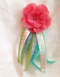 DIY Baby Shower Corsage(I would do blue for Jenson!!)