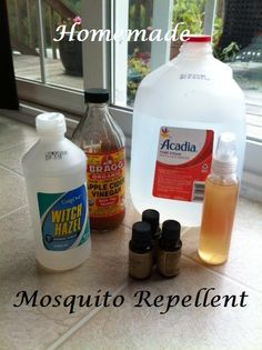 DIY Homemade Mosquito Repellant | Alexa Organics Natural Baby, Natural Living, Herbal Remedies, Home Remedies, Homemade Mosquito Spray, Homemade Cleaning Products, Cleaners Homemade, Cool Diy Projects, Helpful Hints