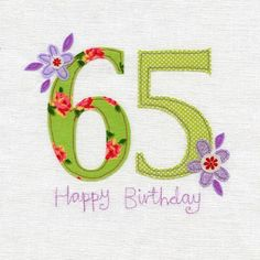 Hand Finished 65th Birthday Card