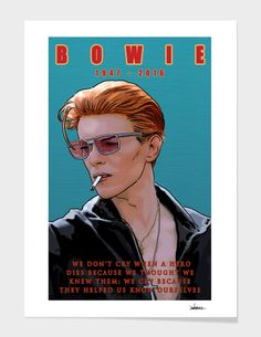 Discover «Bowie: Memento mori», Limited Edition Fine Art Print by Dan Avenell - From $39 - Curioos