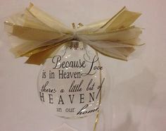 Shop for on Etsy, the place to express your creativity through the buying and selling of handmade and vintage goods. Christmas Ideas, Xmas, Memorial Ornaments, Angels In Heaven, Call Her, Silhouette Cameo, Memories, Holidays, Creative