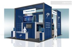 DreamHammer - 20x30 Trade Show Booth Rental - Check EXHIBITMAX Custom Exhibits, if your needs require a custom designed and built trade show booth