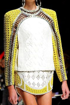 Balmain is so good at baroque. This is art.