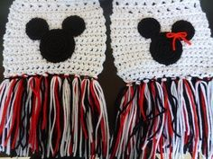 Crochet Mickey scarf | Crochet Mickey & Minnie