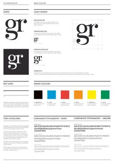 GR Communications guidelines by http://www.ascendstudio.co.uk/projects/rebrand-gr-communications/