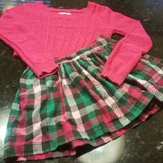 LITTLE LADY'S JUSTICE OUTFIT HAILEY'S CLOSET JUSTICE OUTFIT SWEATER & MATCH SKIRT SIZE 12 justice  Other