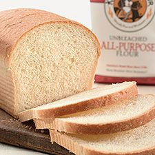 King Arthur's Classic White Sandwich Bread-added 1c warm milk, liquid to correct consistency. Bake 40-45 min. Moist and chewy