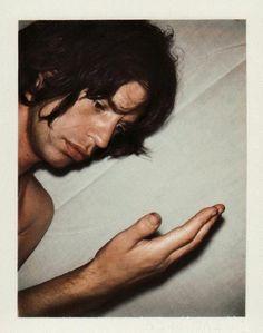 Mick Jagger polaroid by Andy Warhol.