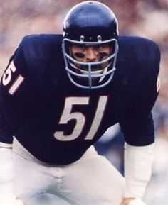 Dick Butkus of the Chicago Bears. One of the most feared linebackers of all time!