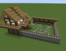 Archery Range - Mine Minecraft World Minecraft Mobile, Mine Minecraft, Minecraft Castle, Minecraft Plans, Amazing Minecraft, Minecraft Tutorial, Minecraft Blueprints, Minecraft Medieval House, Minecraft Barn