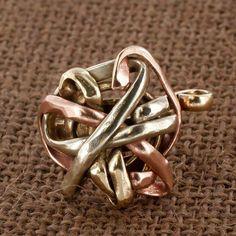 Sadie Green's Mixed Metal Scribble Ring