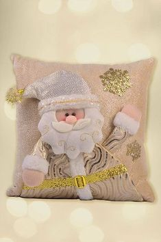 Santini Navidad, por siempre dorado Christmas Cushion Covers, Christmas Cushions, Christmas Pillow, Pink Christmas, Christmas Wreaths, Christmas Decorations, Christmas Ornaments, Christmas Placemats, Christmas Applique