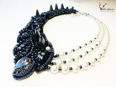 beaded jewelry necklace embroidered decoration