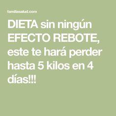 DIETA sin ningún EFECTO REBOTE, este te hará perder hasta 5 kilos en 4 días!!! Fitness Diet, Health Fitness, Psoriasis Diet, Hypothyroidism Diet, Rebounding, Detox Drinks, Healthy Life, Healthy Food, Food And Drink
