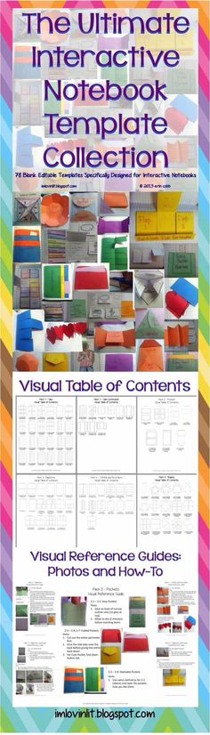 Interactive Notebook Template Collection