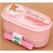 pink deer Rilakkuma bear Bento Box lunch box from Japan